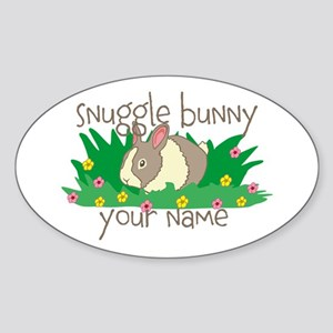 Personalized Snuggle Bunny Sticker