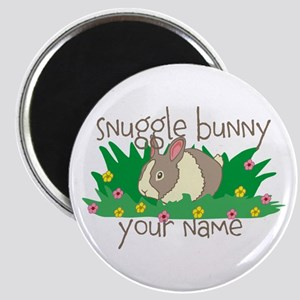 Personalized Snuggle Bunny Magnet