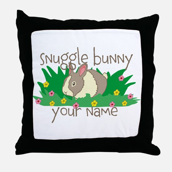 Personalized Snuggle Bunny Throw Pillow