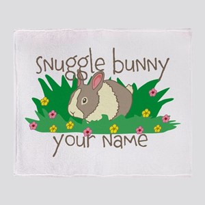 Personalized Snuggle Bunny Throw Blanket