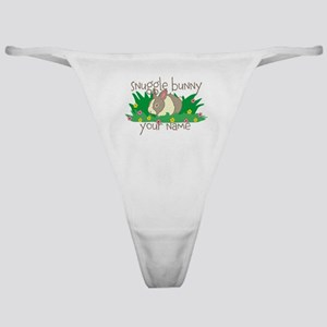 Personalized Snuggle Bunny Classic Thong