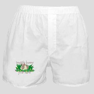 Personalized Snuggle Bunny Boxer Shorts