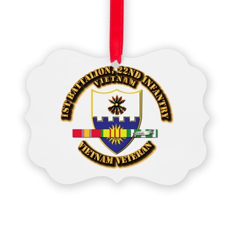 Army - 1st Battalion, 22nd Infantry w SVC Ribbons