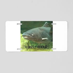 Catfish Noodle Aluminum License Plate