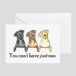 Just One Lab Greeting Card