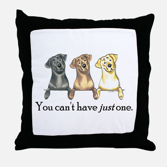 Just One Lab Throw Pillow