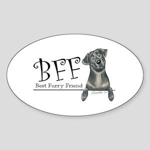 Black Lab BFF Sticker (Oval)