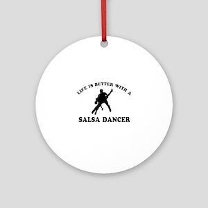 Salsa Dancer vector designs Ornament (Round)