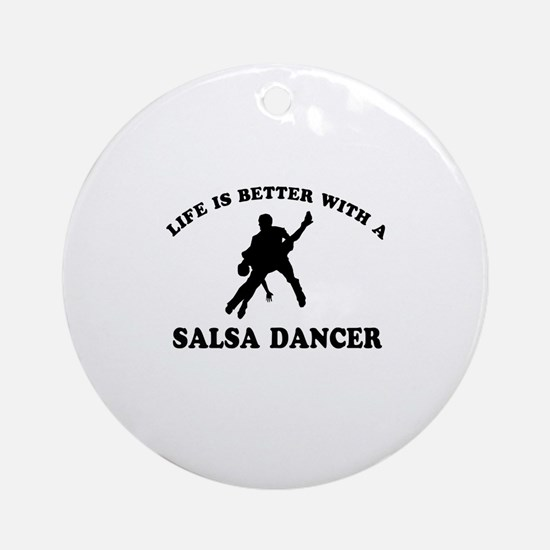 Salsa Dancer vector designs Ornament (Round)