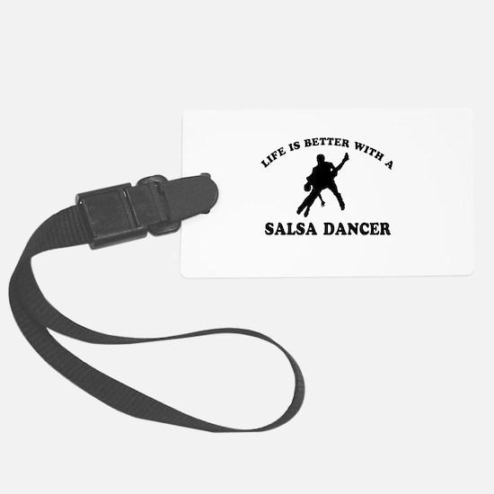 Salsa Dancer vector designs Luggage Tag