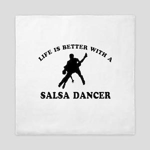 Salsa Dancer vector designs Queen Duvet