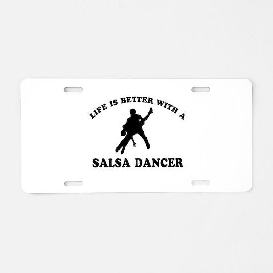 Salsa Dancer vector designs Aluminum License Plate