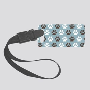 Paw Print Pattern Small Luggage Tag