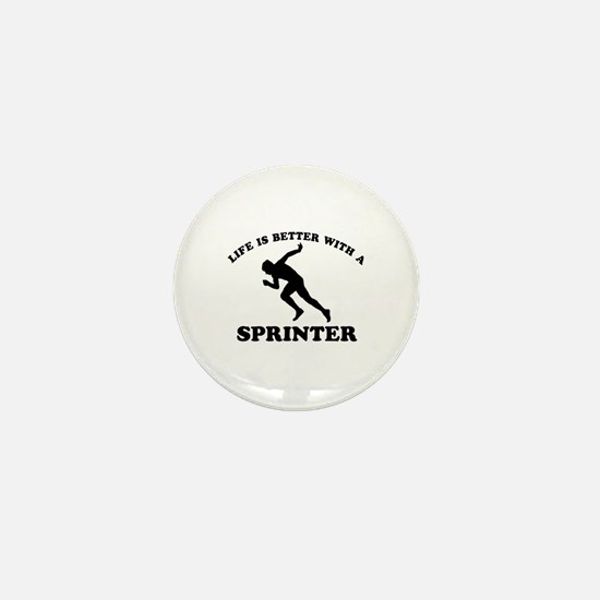 Sprinter vector designs Mini Button