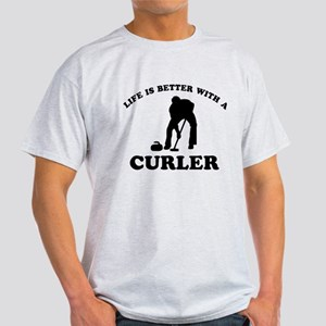 Curler vector designs Light T-Shirt