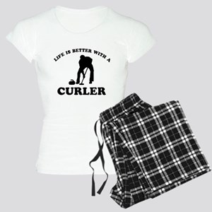 Curler vector designs Women's Light Pajamas