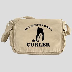 Curler vector designs Messenger Bag