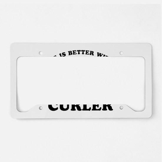 Curler vector designs License Plate Holder