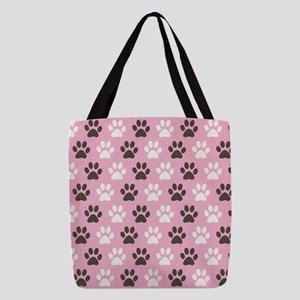 Paw Print Pattern Polyester Tote Bag