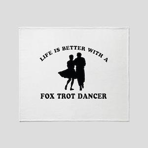 Fox Trot Dancer vector designs Throw Blanket