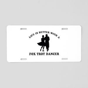 Fox Trot Dancer vector designs Aluminum License Pl