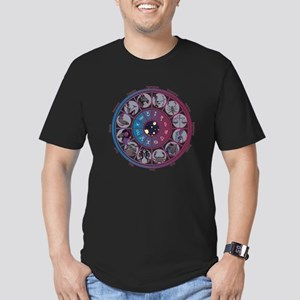Starlight Zodiac Wheel Men's Fitted T-Shirt (dark)