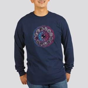 Starlight Zodiac Wheel Long Sleeve Dark T-Shirt