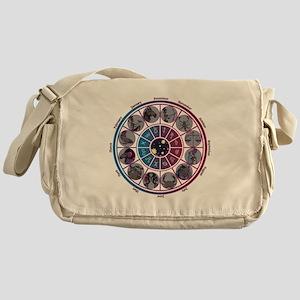 Starlight Zodiac Wheel Messenger Bag