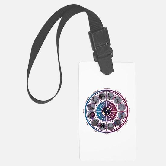Starlight Zodiac Wheel Luggage Tag