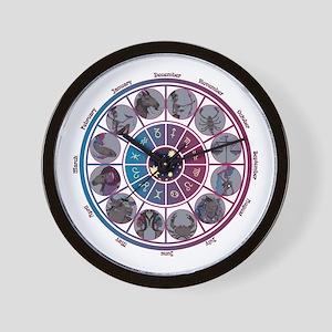 Starlight Zodiac Wheel Wall Clock