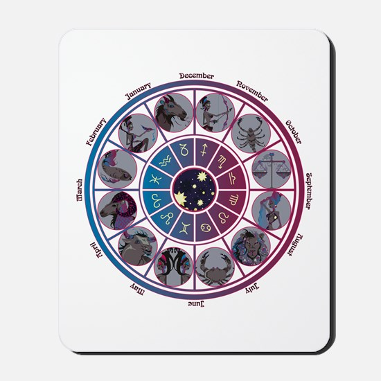 Starlight Zodiac Wheel Mousepad