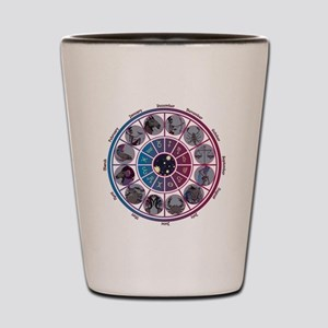 Starlight Zodiac Wheel Shot Glass