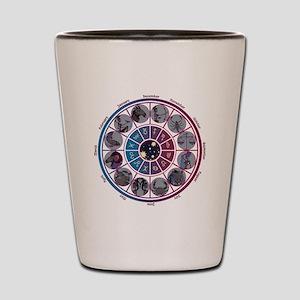 Starlight Zodiac Wheel Shot Glass