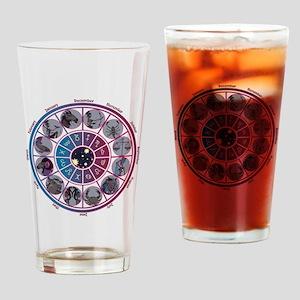 Starlight Zodiac Wheel Drinking Glass