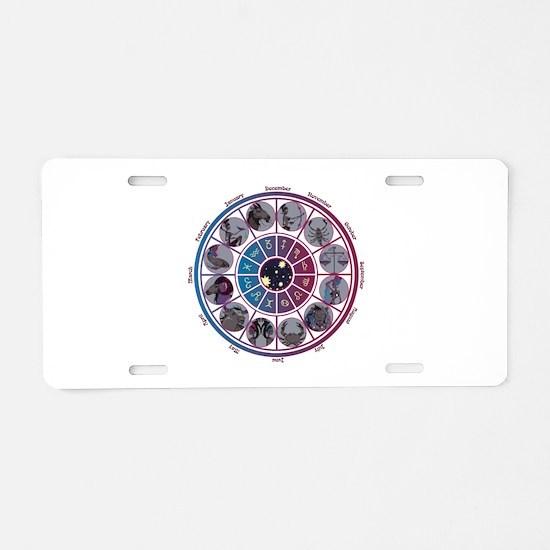 Starlight Zodiac Wheel Aluminum License Plate