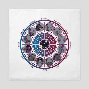 Starlight Zodiac Wheel Queen Duvet