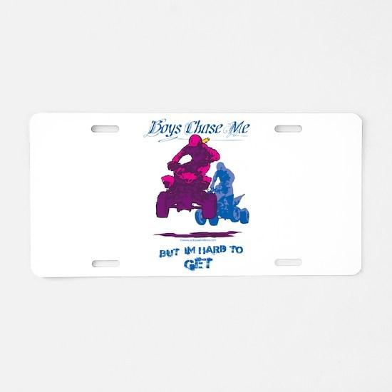 BoysChaseMe Aluminum License Plate