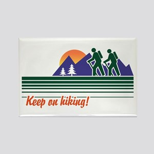 Keep on Hiking Rectangle Magnet