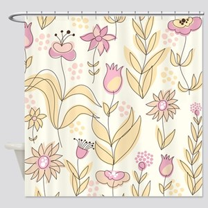 Pretty Flowers Pattern Shower Curtain