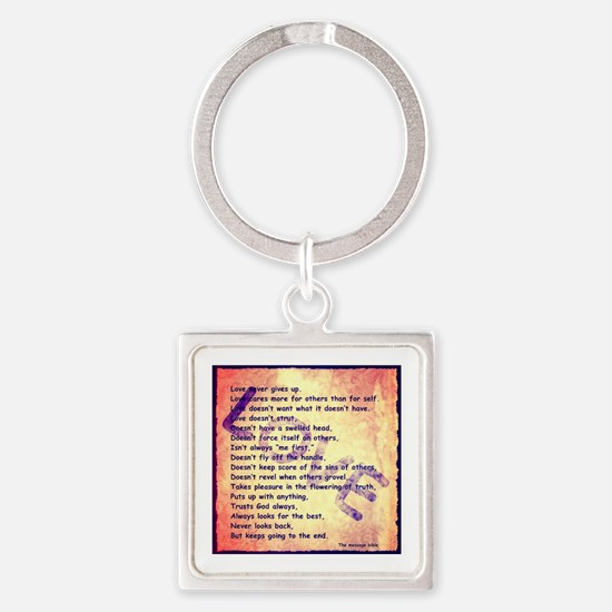 Message of Love Keychains