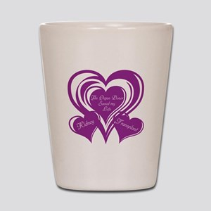 Purple love Triple Heart Shot Glass