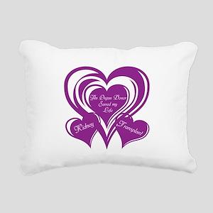 Purple love Triple Heart Rectangular Canvas Pillow