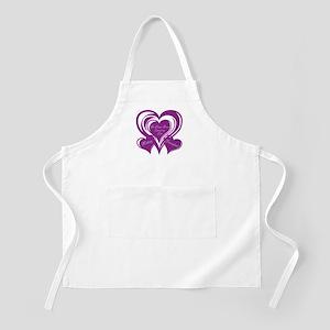 Purple love Triple Heart Apron