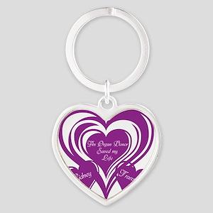 Purple love Triple Heart Heart Keychain