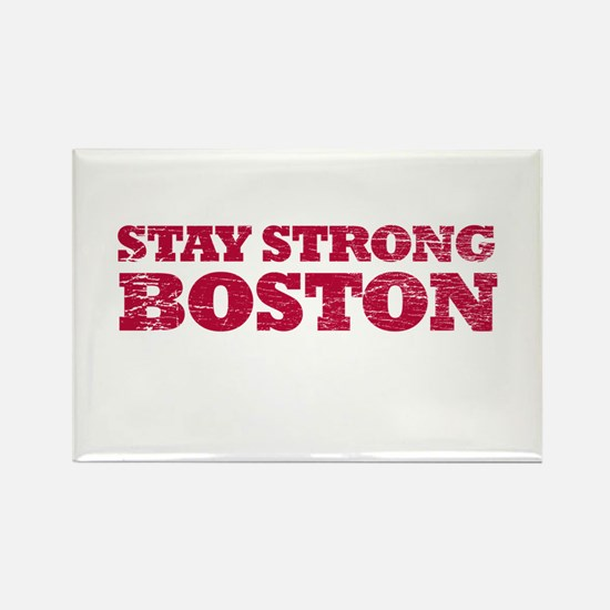 Stay Strong Boston Rectangle Magnet