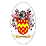 Bretanha Sticker (Oval 10 pk)