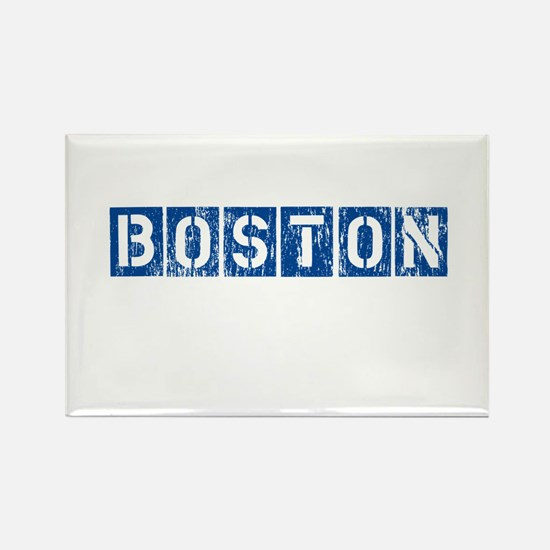 Distressed Boston Rectangle Magnet