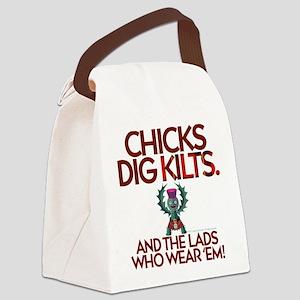 Dig 'Em Canvas Lunch Bag