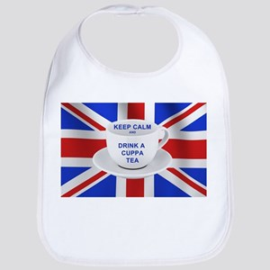Keep Calm and Drink a Cuppa Tea Bib