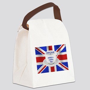 Keep Calm and Drink a Cuppa Tea Canvas Lunch Bag